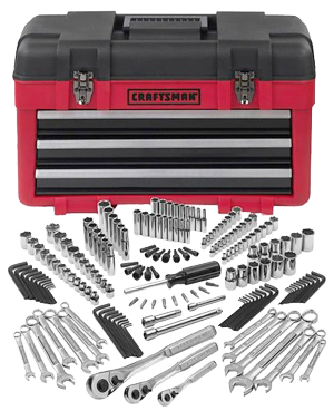 Craftsman-182-pc-Mechanics-Tool-Set-with-3-Drawer-Chest