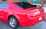 Mustang Aluminum Rear Window Louvers