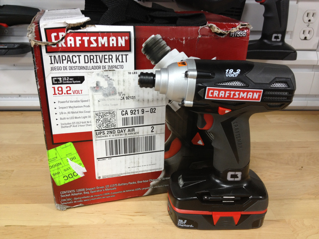 The Craftsman 19 2 Cold Cordless Impact Driver Features A Ful Volt Variable Sd Motor That Allows For 0 2500 Rpm No Load Sds And Provides