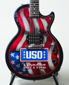 Motorz/Milestone Paint & Body USO Guitar signed by Toby Keith