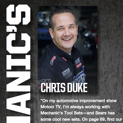 Chris Duke, Craftsman Tool Spokesperson for Sears