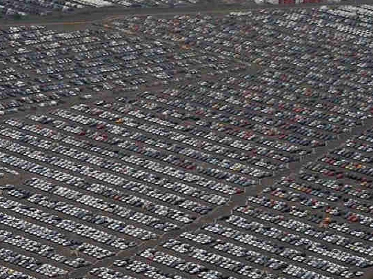 end of the line  unsold car graveyard