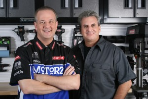 Chris Duke with Alan Taylor of Motorz TV