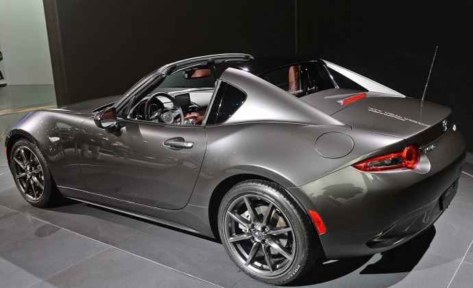 In What Has Remained The Most Surprising Announcement At New York International Auto Show Mazda Took Wraps Off Mx 5 Rf