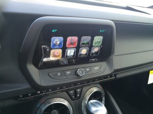 Camaro SS's standard 8-inch screen. Big plus over the Mustang GT