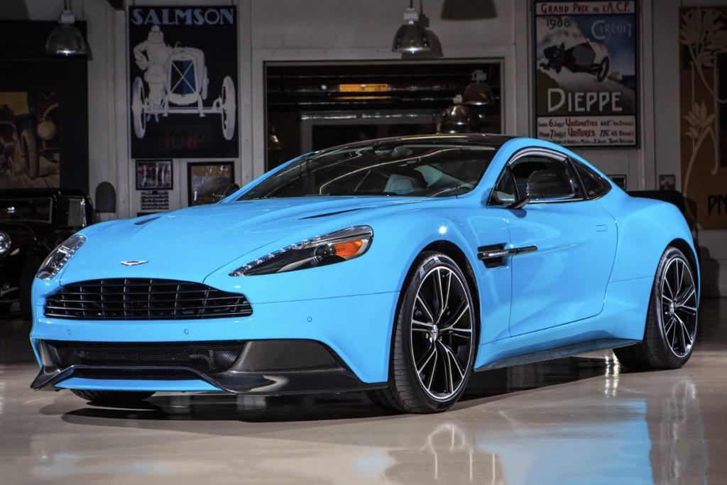 Aston Martin Vanquish Blue Top Gear E