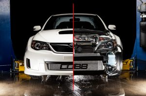 WRX Front Mount. Photo Credit: COBB Tuning