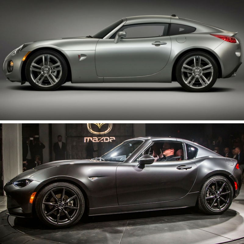 Pontiac Solstice Coupe and Mazda MX-5 RF